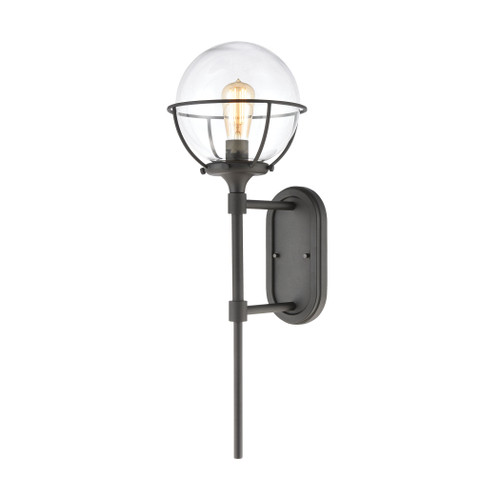 ELK Lighting 57291/1 Girard 1-Light Sconce in Charcoal with Clear Glass
