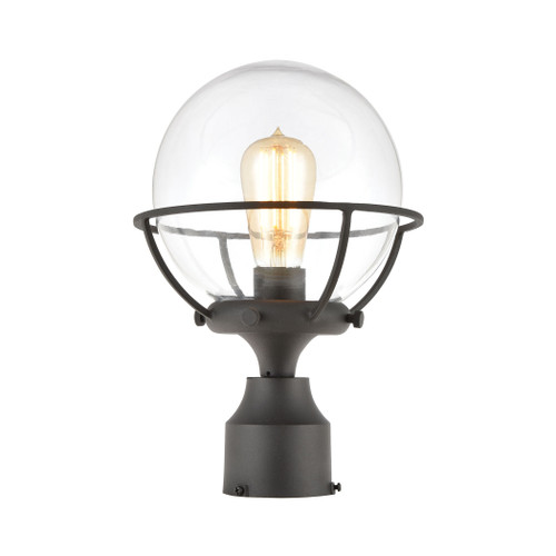ELK Lighting 57293/1 Girard 1-Light Post Mount in Charcoal with Clear Glass