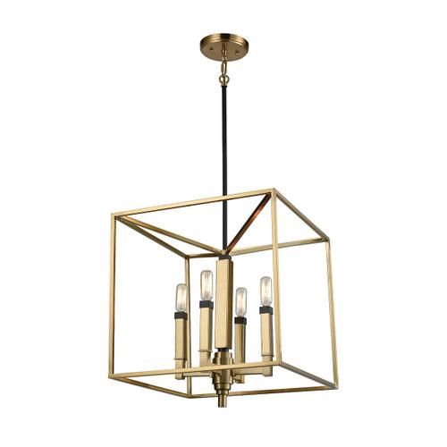 ELK Lighting 67754/4 Mandeville 4-Light Chandelier in Oil Rubbed Bronze and Satin Brass