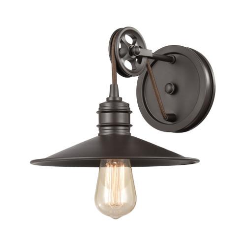 ELK Lighting 69084/1 Spindle Wheel 1-Light Vanity Light in Oil Rubbed Bronze