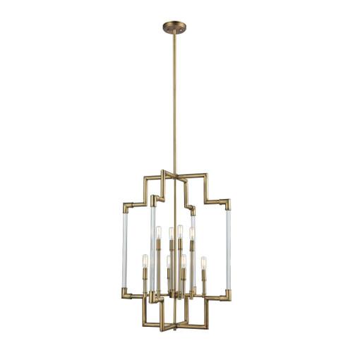 ELK Lighting 69206/8 Brandon 8-Light Pendant in Classic Brass