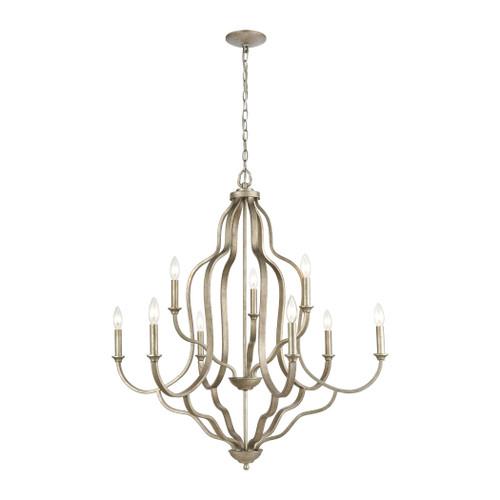 ELK Lighting 75107/9 Lanesboro 9-Light Chandelier in Dusted Silver