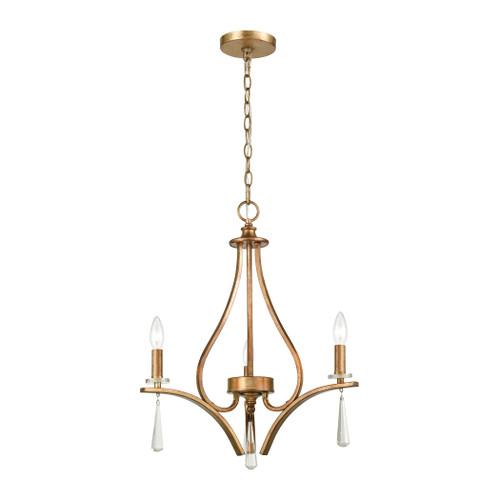 ELK Lighting 75146/3 Katania 3-Light Chandelier in Antique Gold