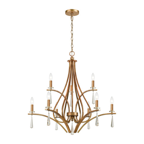 ELK Lighting 75148/9 Katania 9-Light Chandelier in Antique Gold