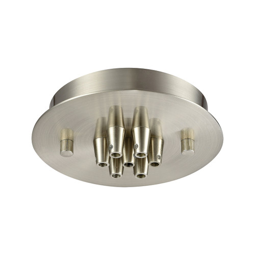 ELK Lighting 7SR-SN Pendant Options 7 Light Small Round Canopy in Satin Nickel