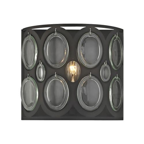 ELK Lighting 81120/1 Serai 1-Light Vanity Sconce in Oil Rubbed Bronze with Clear Soda Bottle Glass