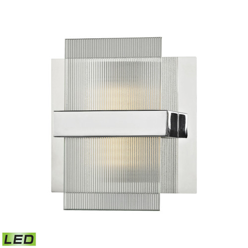 ELK Lighting 81140/LED Desiree 1-Light Vanity Sconce in Polished Chrome with Clear Lined Glass - Integrated LED