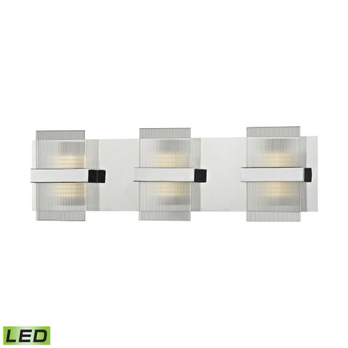 ELK Lighting 81141/LED Desiree 1-Light Vanity Sconce in Polished Chrome with Clear Lined Glass - Integrated LED