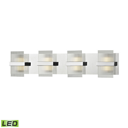 ELK Lighting 81142/LED Desiree 1-Light Vanity Sconce in Polished Chrome with Clear Lined Glass - Integrated LED