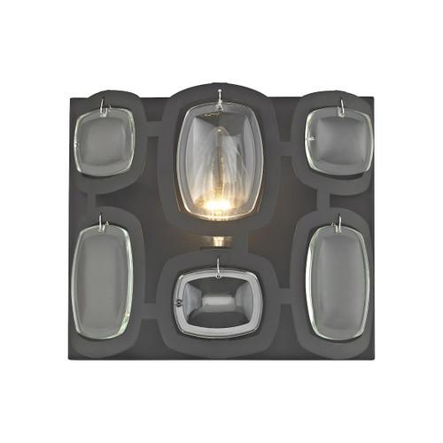 ELK Lighting 81160/1 Monserrat 1-Light Vanity Sconce in Oil Rubbed Bronze with Clear Glass