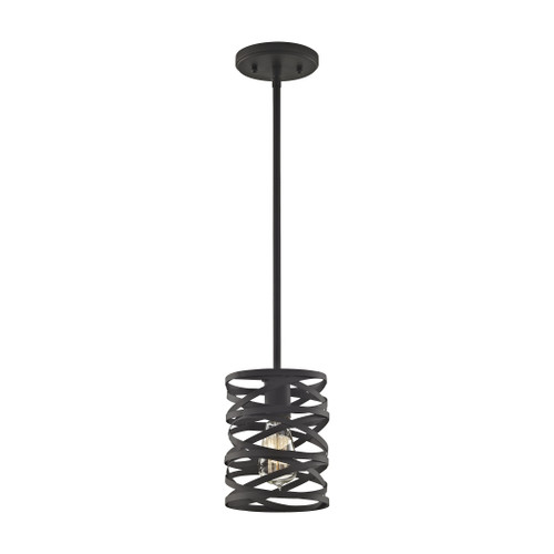 ELK Lighting 81184/1-LA Vorticy 1-Light Mini Pendant in Oil Rubbed Bronze with Metal Cage - Includes Adapter Kit