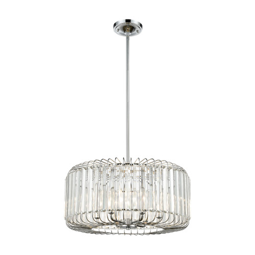 ELK Lighting 81325/6 Beaumont 6-Light Chandelier in Polished Chrome with Clear Crystal