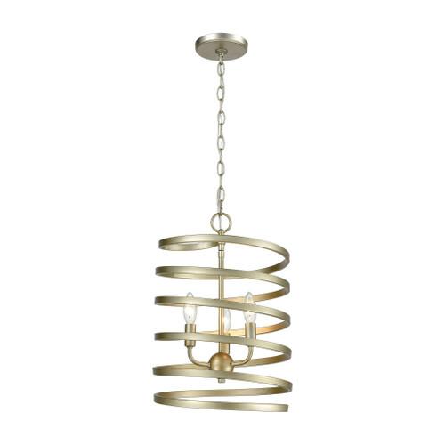 ELK Lighting 81353/3 Whirlwind 3-Light Pendant in Aged Silver