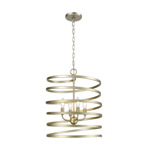 ELK Lighting 81354/4 Whirlwind 4-Light Pendant in Aged Silver