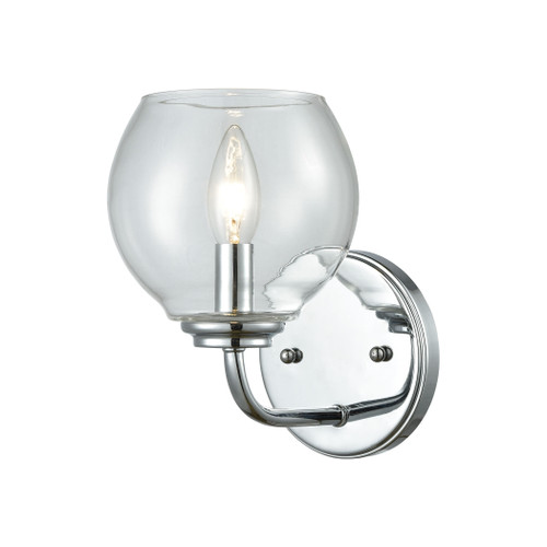 ELK Lighting 81360/1 Emory 1-Light Vanity Lamp in Polished Chrome with Clear Blown Glass