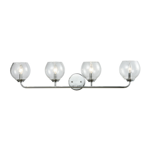 ELK Lighting 81363/4 Emory 4-Light Vanity Lamp in Polished Chrome with Clear Blown Glass