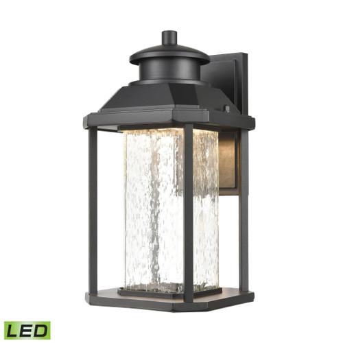 ELK Lighting 87121/LED Irvine Sconce in Matte Black with Seedy Glass - Integrated LED
