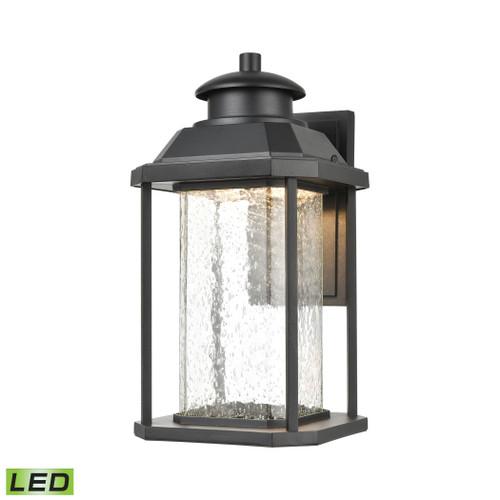 ELK Lighting 87122/LED Irvine Sconce in Matte Black with Seedy Glass - Integrated LED
