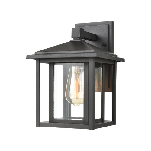 ELK Lighting 87130/1 Solitude 1-Light Sconce in Matte Black with Clear Glass