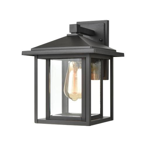 ELK Lighting 87131/1 Solitude 1-Light Sconce in Matte Black with Clear Glass
