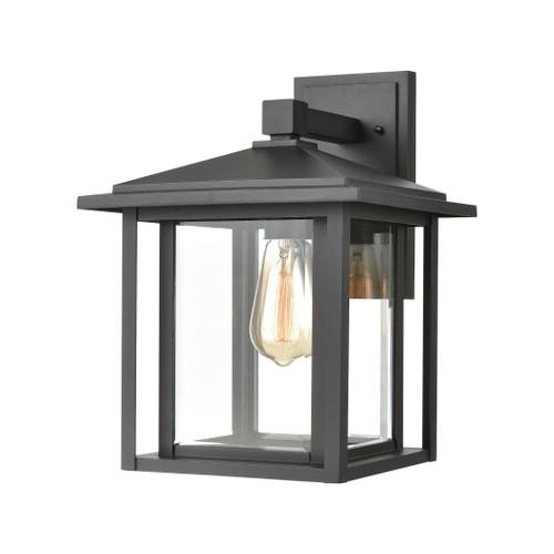 ELK Lighting 87132/1 Solitude 1-Light Sconce in Matte Black with Clear Glass