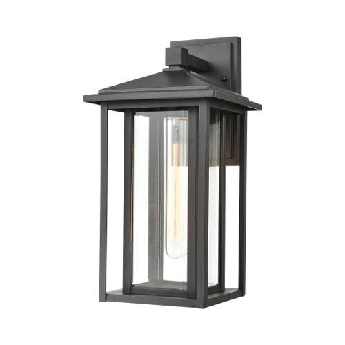ELK Lighting 87133/1 Solitude 1-Light Sconce in Matte Black with Clear Glass