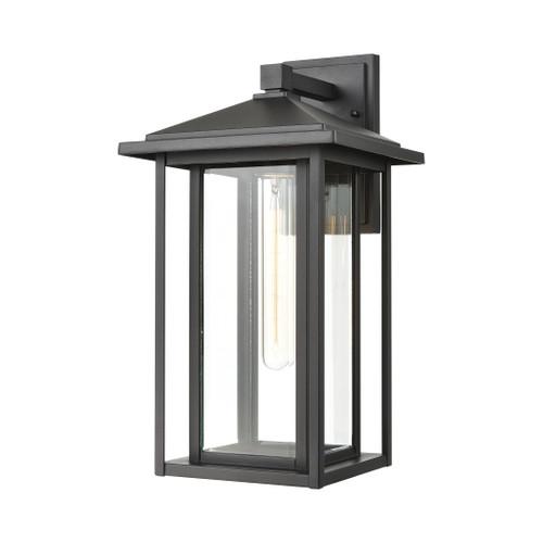 ELK Lighting 87134/1 Solitude 1-Light Sconce in Matte Black with Clear Glass