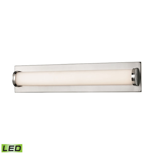 ELK Lighting BVL371-10-16M Barrie 1-Light Vanity Sconce in Matte Satin Nickel with Opal White Glass Diffuser - Integrated LED