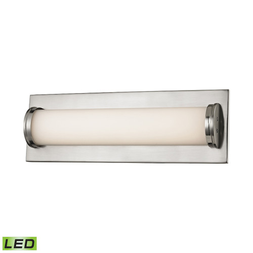 ELK Lighting BVL372-10-16M Barrie 1-Light Vanity Sconce in Matte Satin Nickel with Opal White Glass Diffuser - Integrated LED