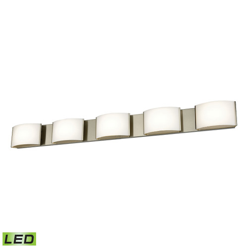 ELK Lighting BVL915-10-16M Pandora 5-Light Vanity Sconce in Satin Nickel with Opal Glass - Integrated LED