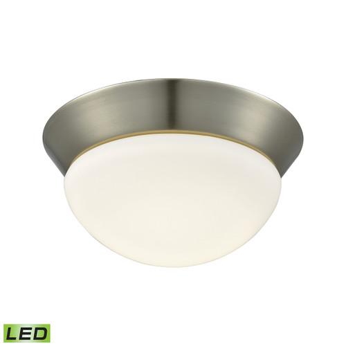 ELK Lighting FML7125-10-16M Contours 1-Light Flush Mount in Satin Nickel with Soft Opal Glass - Integrated LED