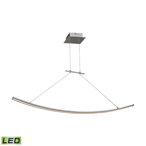 ELK Lighting LC1310-10-98 Bow 1-Light Island Light in Aluminum with White Polycarbonate Diffuser - Integrated LED