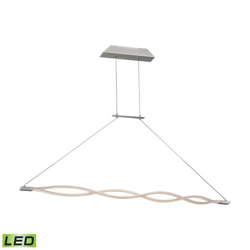 ELK Lighting LC1350-10-98 Twist 2-Light Island Light in Aluminum with Opal Glass Diffuser - Integrated LED