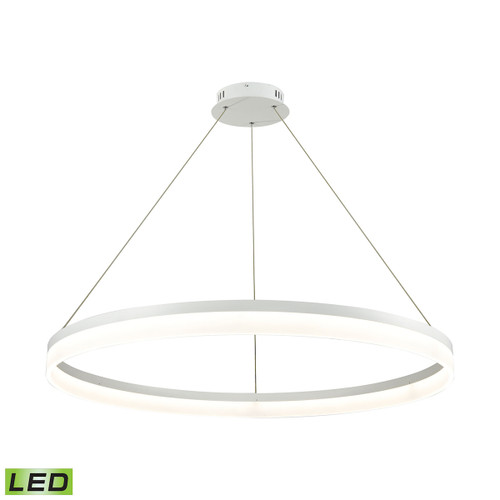 ELK Lighting LC2401-N-30 Cycloid 1-Light Chandelier in Matte White with Acrylic Diffuser - Integrated LED - Large
