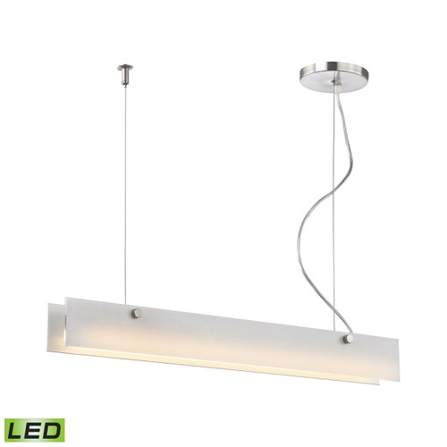ELK Lighting LC4020-10-98 Iris 1-Light Island Light in Aluminum with White Glass Diffuser - Integrated LED
