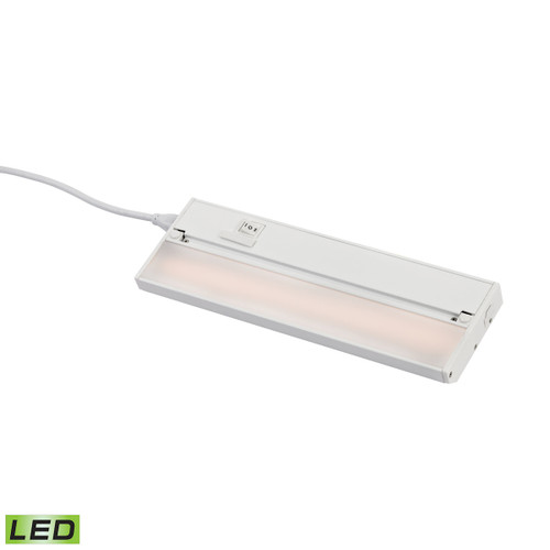 ELK Lighting LV012RSF ZeeLED Pro 1-Light Utility Light in White with Diffused Glass - Integrated LED
