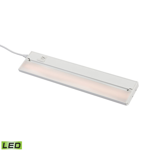 ELK Lighting LV018RSF ZeeLED Pro 1-Light Utility Light in White with Diffused Glass - Integrated LED