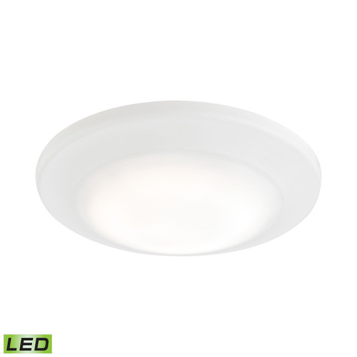 ELK Lighting MLE1200-5-30 Plandome 1-Light Recessed Light in Clean White with Glass Diffuser