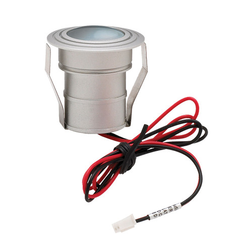 ELK Lighting WLE122C32K-0-95 Batwing 1-Light Button Light in Matte Aluminum with Frosted Lens - Integrated LED