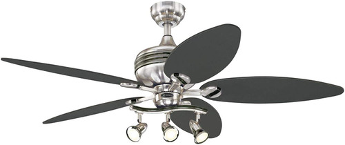Westinghouse Lighting 7223100 Xavier II Indoor Ceiling Fan with Light, LED, Brushed Nickel