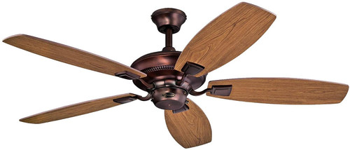 Westinghouse Lighting 7203700 Aiden 52-Inch Reversible Five-Blade Indoor Ceiling Fan Oil Brushed Bronze Finish with Dark Cherry/Mahogany Reversible Blades
