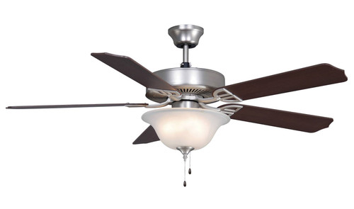 Fanimation BP220BSN1 Aire Decor - 52 inch - Satin Nickel with Glass Bowl Light At CLW Lighting!