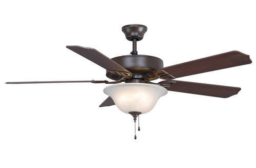 Fanimation BP225BOB1 Aire Decor - 52 inch - Oil-Rubbed Bronze with Frosted Glass Light At CLW Lighting!