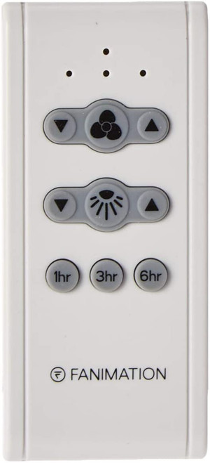 Fanimation CR500 Remote with Receiver Non-Reversing - Fan Speed - White