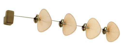 Fanimation FP780AB-P1-4 Punkah - 22 inch - Antique Brass with Antique Wide Oval Blades - Set of 4 At CLW Lighting!