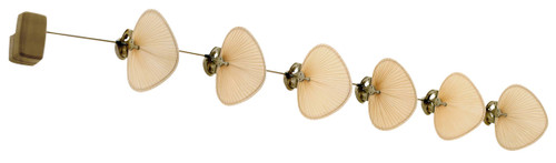Fanimation FP780AB-P1-6 Punkah - 22 inch - Antique Brass with Antique Wide Oval Blades - Set of 6 At CLW Lighting!