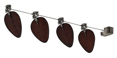 Fanimation FP780PW-D1A-4 Punkah - 22 inch - Pewter with Antique Wide Oval Blades - Set of 4 At CLW Lighting!
