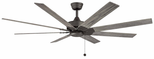 Fanimation FP7910GR Levon - 63 inch - Matte Greige with Weathered Wood Blades At CLW Lighting!