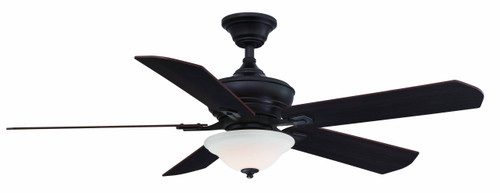 Fanimation FP8094DZ Camhaven v2 - 52 inch - Dark Bronze with Glass Bowl Light At CLW Lighting!