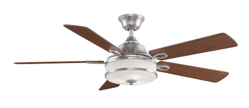 Fanimation FP8274BN Stafford - 52 inch - Brushed Nickel with Cherry/Dark Walnut Reversible Blades and LED At CLW Lighting!